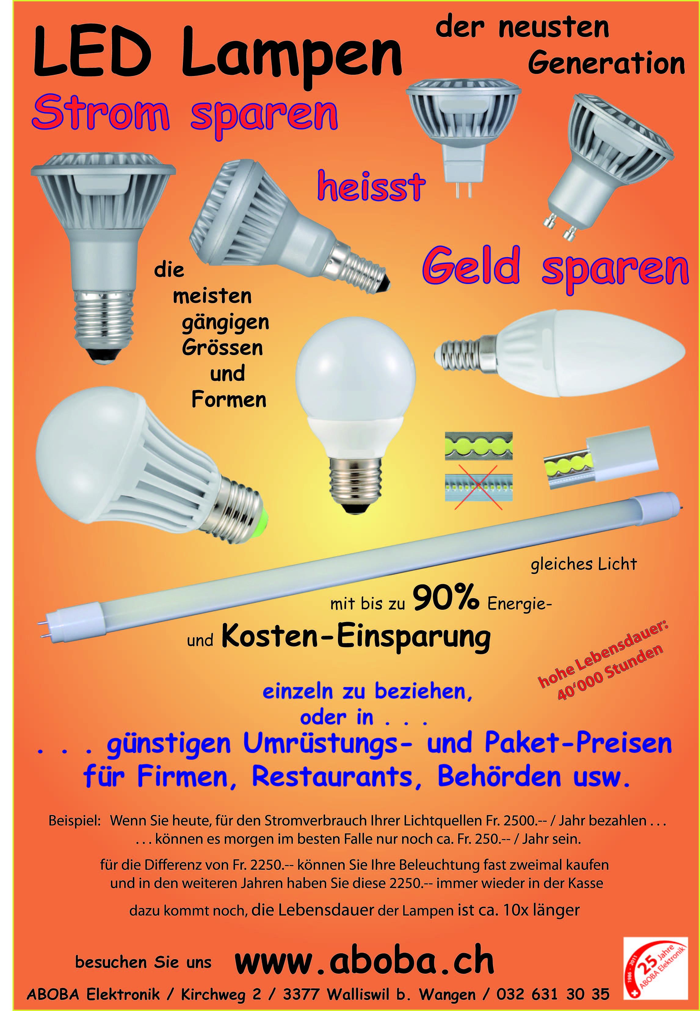 ABOBA Elektronik - ▻ LED-Lampen und die Vorteile !